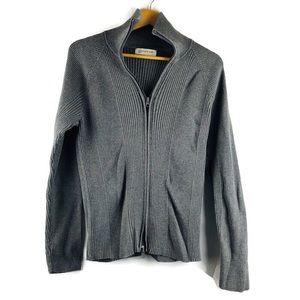 Jones New York Sport Gray Ribbed Sweater